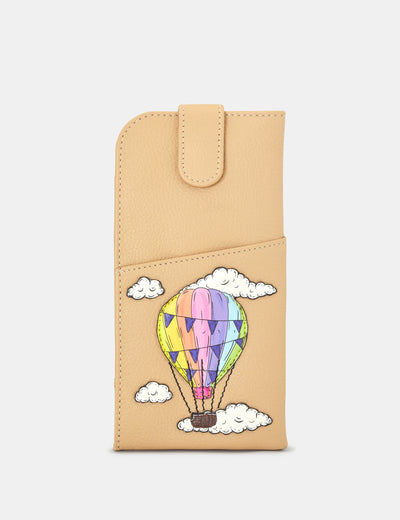 Amongst The Clouds Leather Chilton Glasses Case - Yoshi