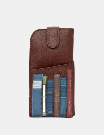 Bookworm Brown Leather Chilton Glasses Case - Yoshi