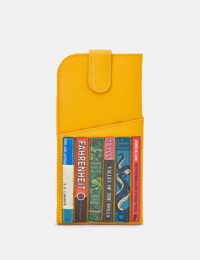 Bookworm Yellow Leather Chilton Glasses Case - Yoshi