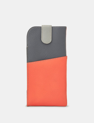 Coral Multi Leather Chilton Glasses Case - Yoshi