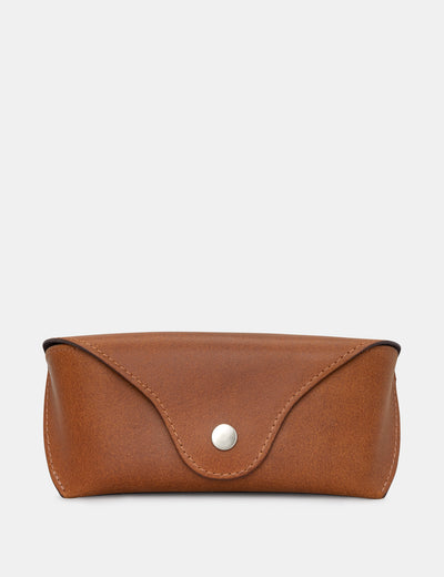 Brown Leather Glasses Case - Yoshi