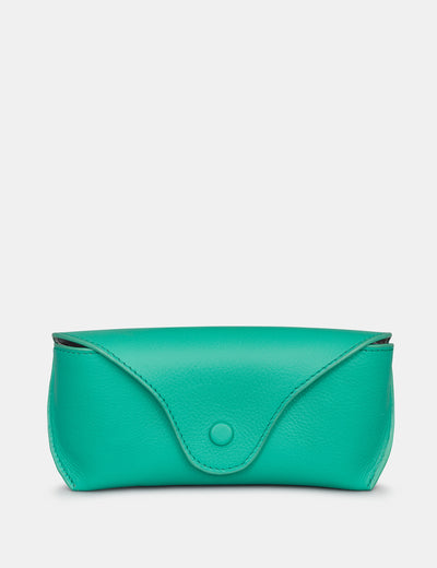 Jade Green Leather Atlantic Glasses Case - Yoshi