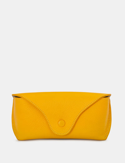 Yellow Leather Atlantic Glasses Case - Yoshi