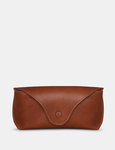 Brown Leather Atlantic Glasses Case - Yoshi