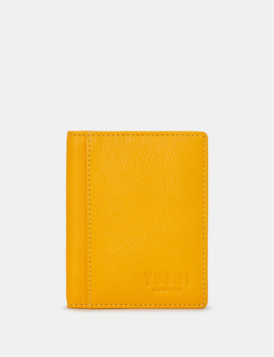 Yellow Leather Steinway Card Holder - Yoshi