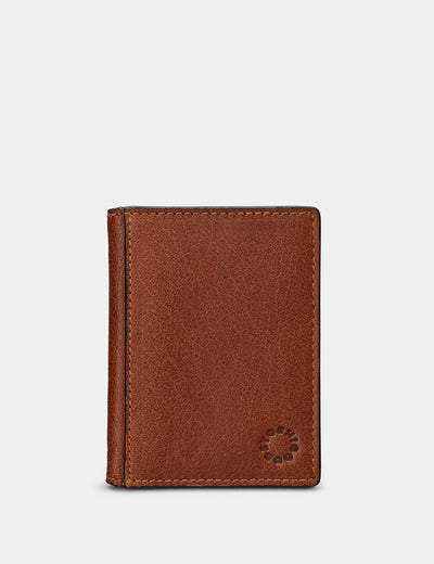 Brown Leather Travel Pass Holder - Yoshi