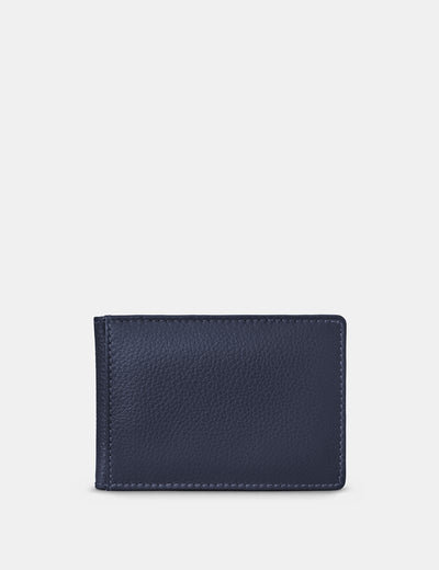 Navy Leather Duke Travel Pass Holder - Yoshi