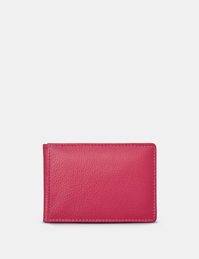 Raspberry Leather Duke Travel Pass Holder - Yoshi