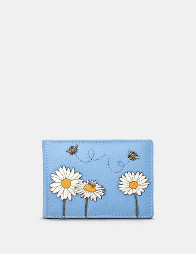 Bee Happy Blue Leather Travel Pass Holder - Yoshi