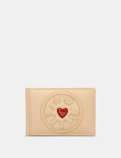 Jammie Dodger Biscuit Leather Travel Pass Holder - Yoshi