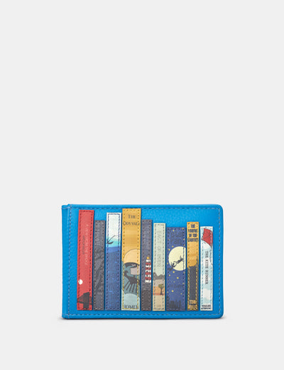 Bookworm Cobalt Blue Leather Travel Pass Holder - Yoshi