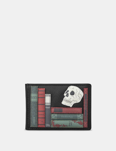 Shakespeare Bookworm Black Leather Travel Pass Holder - Yoshi