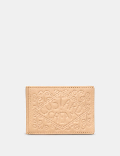 Custard Cream Biscuit Leather Travel Pass Holder - Yoshi