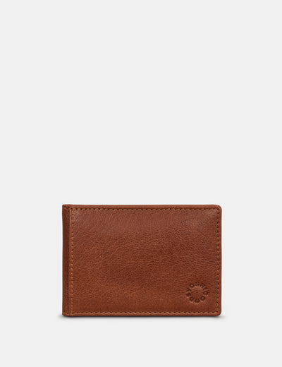 Brown Leather Duke Travel Pass Holder - Yoshi