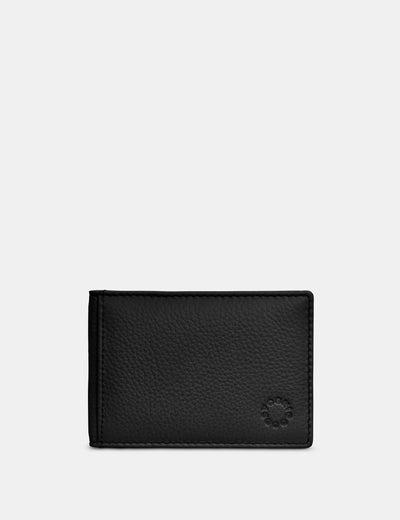 Black Leather Duke Travel Pass Holder - Yoshi