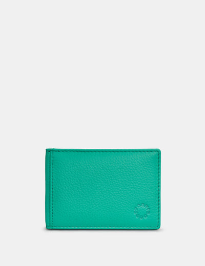 Jade Green Leather Duke Travel Pass Holder - Yoshi