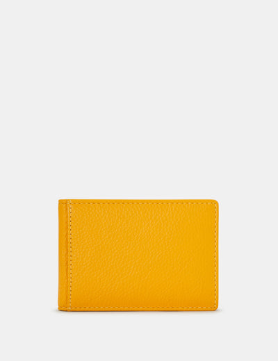 Yellow Leather Duke Travel Pass Holder - Yoshi