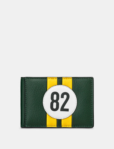 Car Livery #82 Green Leather Travel Pass Holder - Yoshi