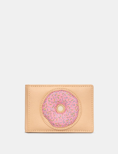 Donut Leather Travel Pass / Card Holder - Yoshi
