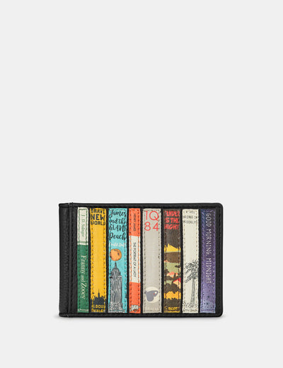 Bookworm Black Leather Travel Pass Holder - Yoshi