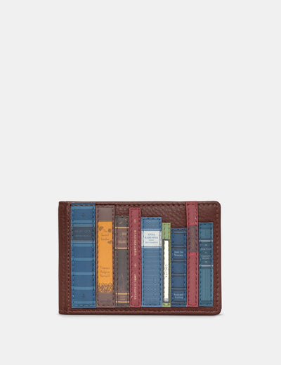 Bookworm Brown Leather Travel Pass Holder - Yoshi