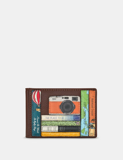 Travel Bookworm Brown Leather Travel Pass Holder - Yoshi