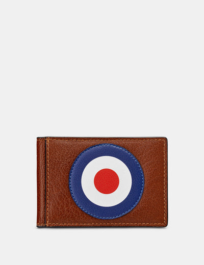 Mod Target Brown Leather Travel Pass Holder - Yoshi