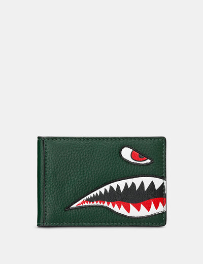Nose Cone Green Leather Travel Pass Holder - Yoshi