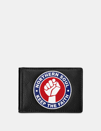 Northern Soul Black Leather Travel Pass Holder - Yoshi