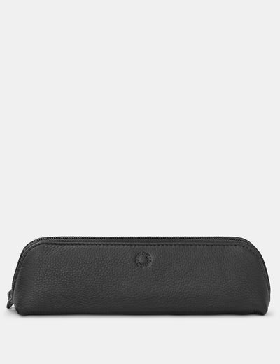 Morgan Black Leather Pencil Case - Yoshi