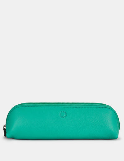 Morgan Jade Green Leather Pencil Case - Yoshi