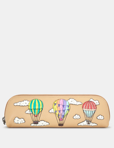 Amongst The Clouds Leather Pencil Case - Yoshi