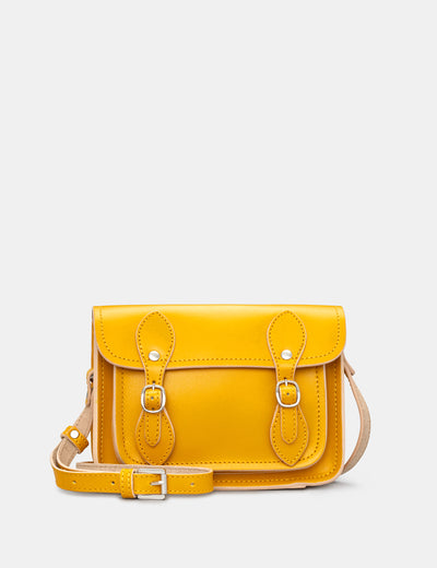 Tilney Mustard Yellow Leather Mini Satchel - Yoshi