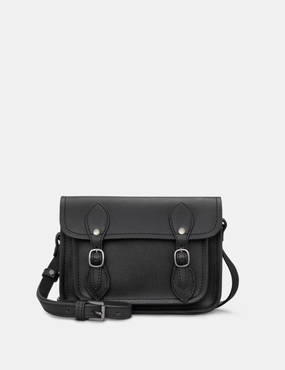 Tilney Black Leather Mini Satchel - Yoshi
