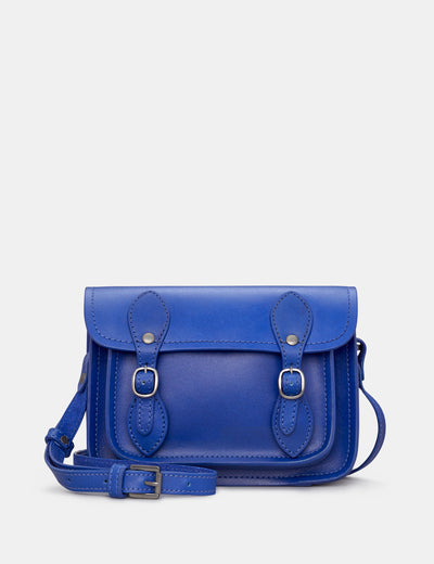 Tilney Cobalt Blue Leather Mini Satchel - Yoshi