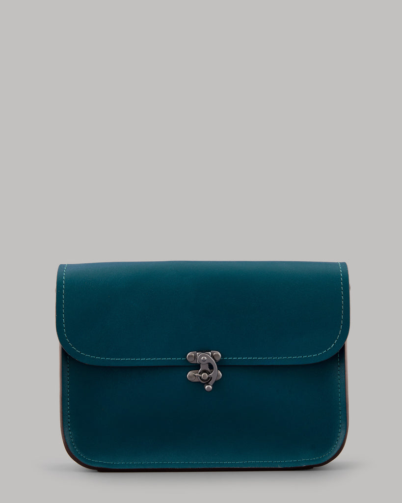 Newman Teal Leather Cross Body Bag
