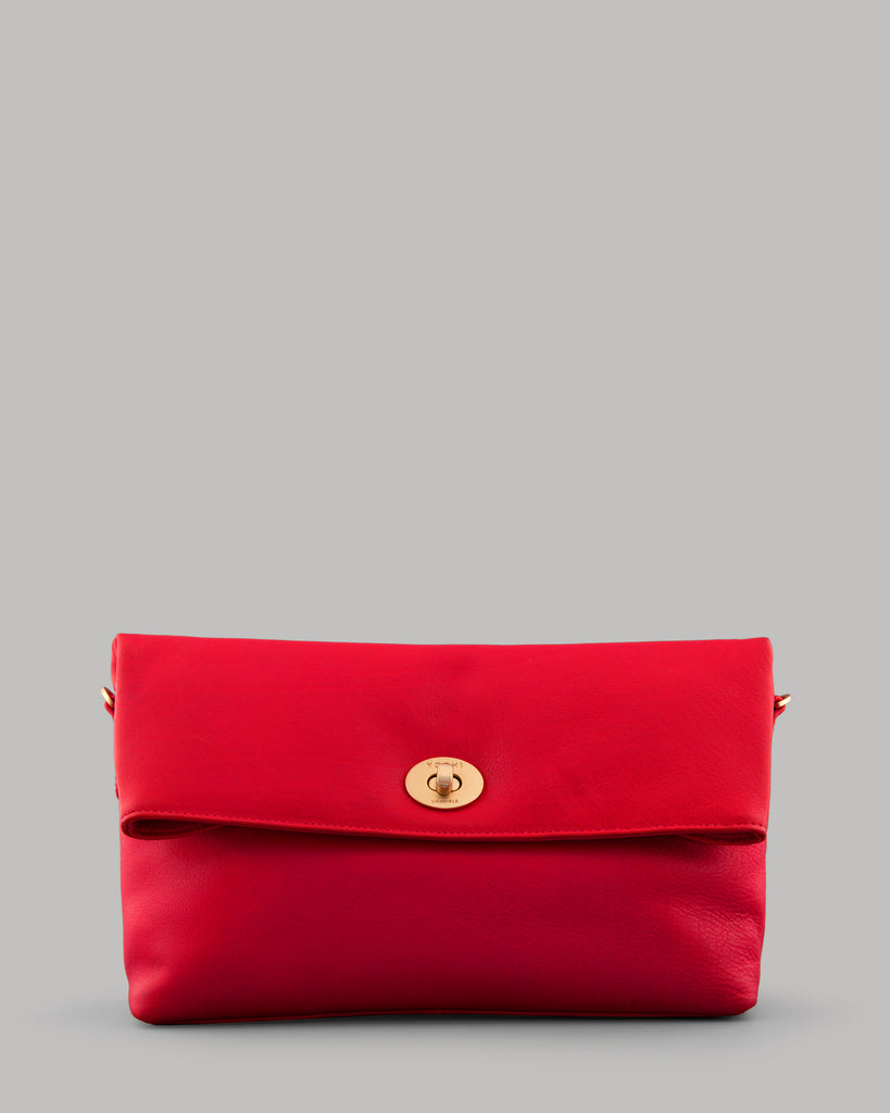 Lowry Red Leather Shoulder Bag -  - Yoshi