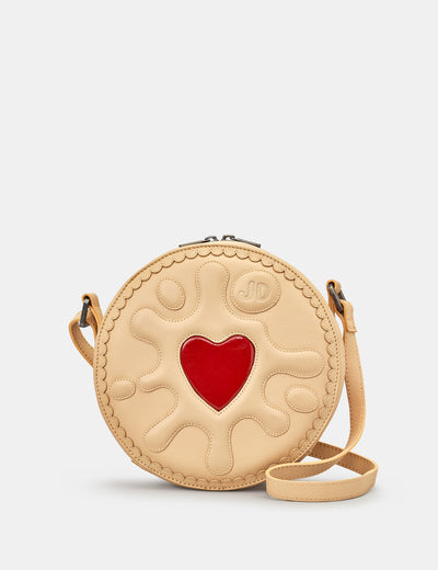 Jammie Dodger Biscuit Leather Cross Body Bag - Yoshi