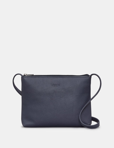Parker Navy Leather Cross Body Bag - Yoshi