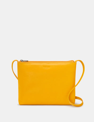 Parker Yellow Leather Cross Body Bag - Yoshi