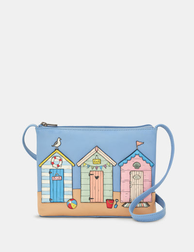 Happy Daze Blue Leather Cross Body Bag - Yoshi