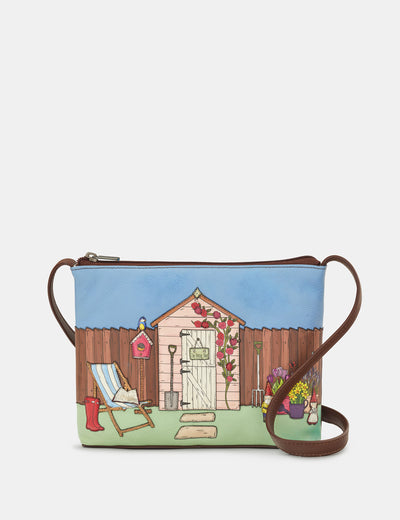 Potting Shed Brown Leather Cross Body Bag - Yoshi