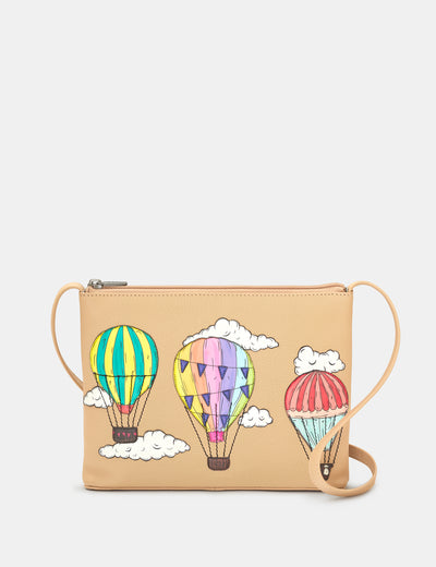 Amongst The Clouds Leather Cross Body Bag - Yoshi