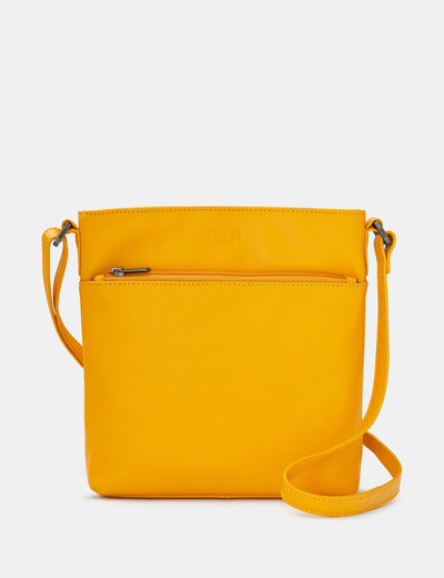 Garrick Yellow Leather Cross Body Bag - Yoshi