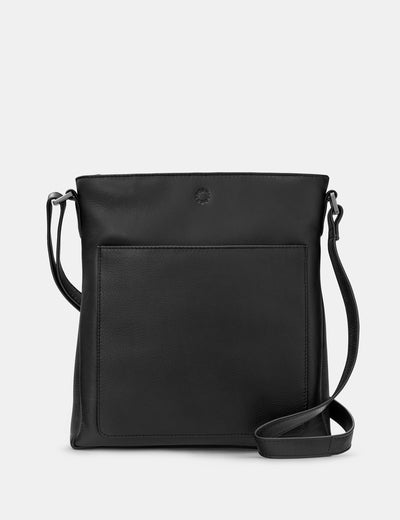 Bryant Black Leather Cross Body Bag - Yoshi