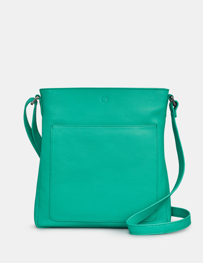 Bryant Jade Green Leather Cross Body Bag - Yoshi