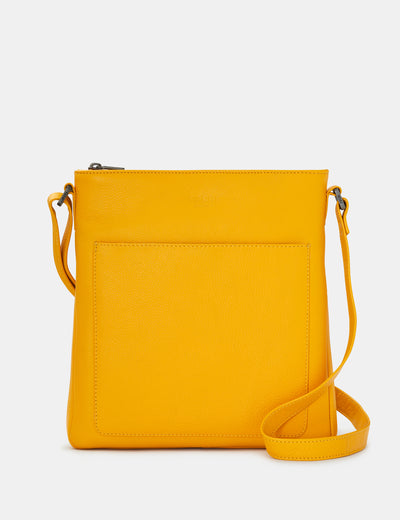 Bryant Yellow Leather Cross Body Bag - Yoshi