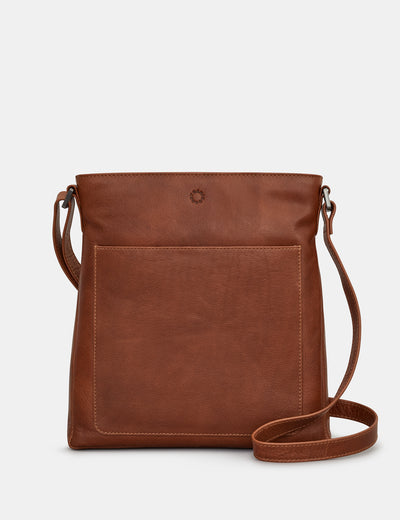 Bryant Brown Leather Cross Body Bag - Yoshi