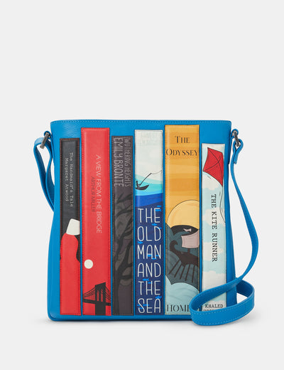 Bookworm Cobalt Blue Leather Bryant Cross Body Bag - Yoshi
