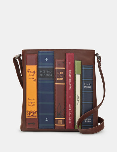 Bookworm Brown Leather Bryant Cross Body Bag - Yoshi